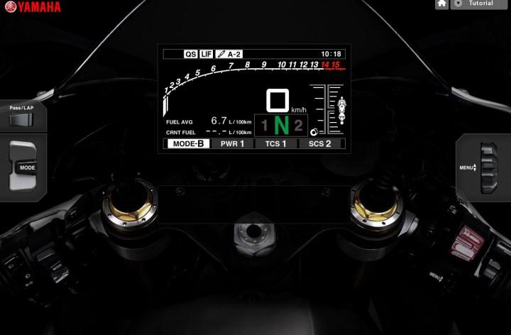 Try the new Yamaha R1 simulator