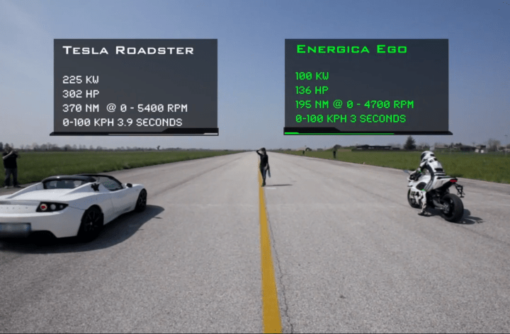Rare Electric Motorcycle Destroys Supercars in Drag Race