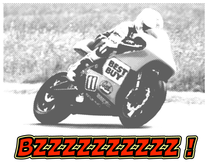 The Brammo TTX flat out at the Isle of Man in 2009. A very impressive debut.