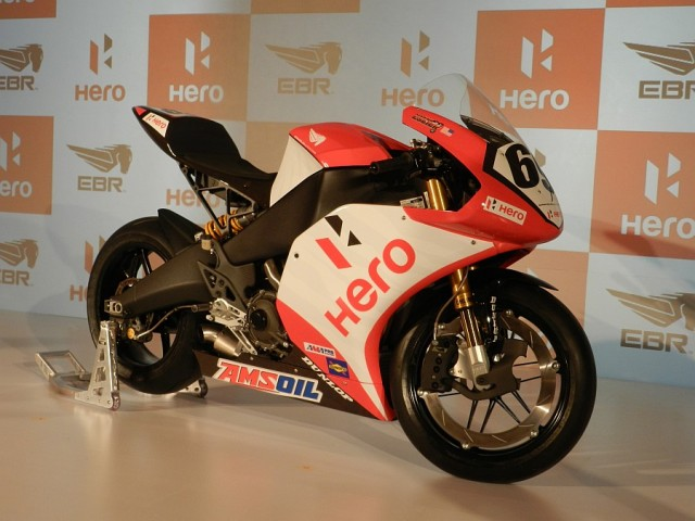 The EBR 1190 RS all dressed up and ready to enter the fray in the 2014 World Superbike Championship