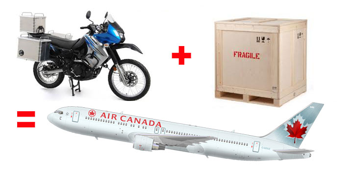 UPDATE: Air Canada motorcycle cargo options