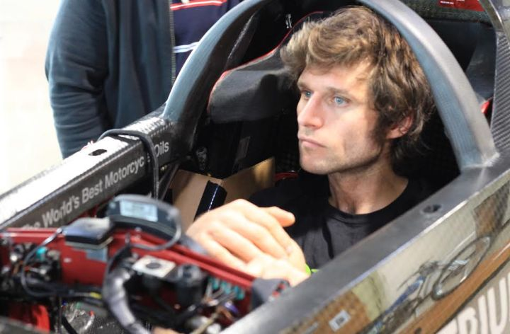 Crash interrupts Guy Martin land speed attempt