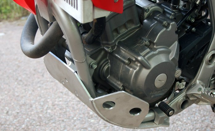 The CRF250L skid plate we ordered was a fairly painless installation.
