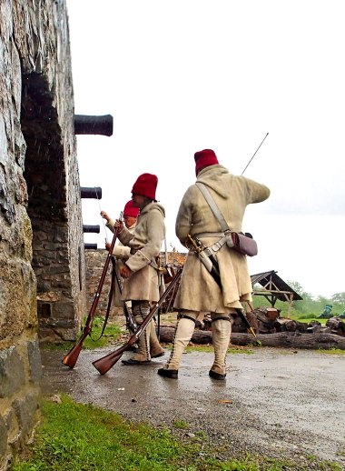 What fort would be complete without muskets?