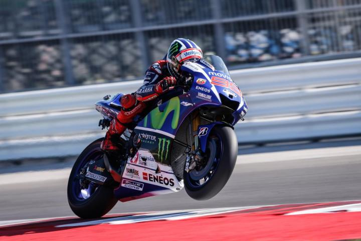 Jorge Lorenzo on the attack in qualifying in San Marino (Misano, Italy if you want to get technical)