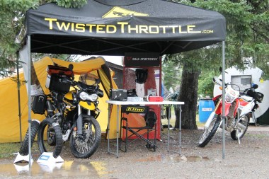 Eric Russell showed up with the Twisted Throttle exhibit and a hankering to ride