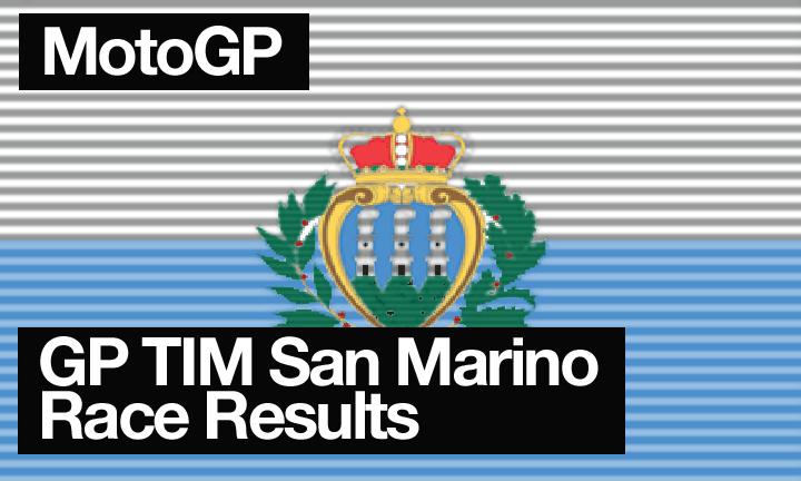 MotoGP Round 13 – GP TIM San Marino Race Results