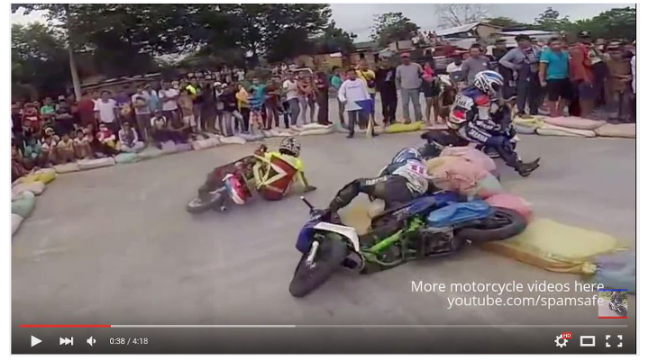 Video: Scooters gone mad