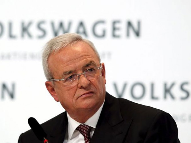 Former VW Group CEO Martin Winterkorn facing the music. The soundtrack does not include V-twins