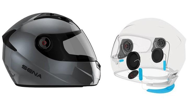 SENA shows off noise-canceling helmet