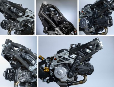 Here's Bimota's supercharger, which will be adapted to other bikes in their lineup.