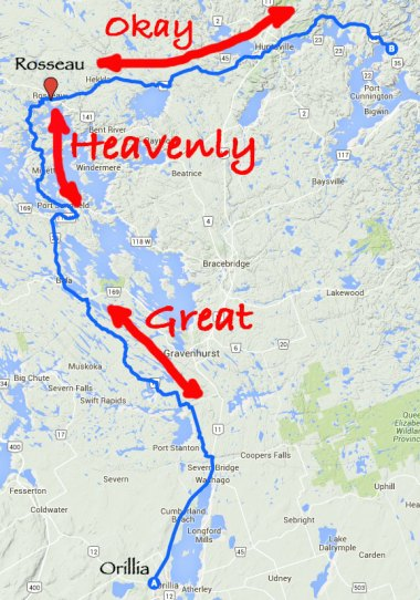 Getting out of the GTA is always an issue. Once north of Orillia some great roads in cottage country can be found
