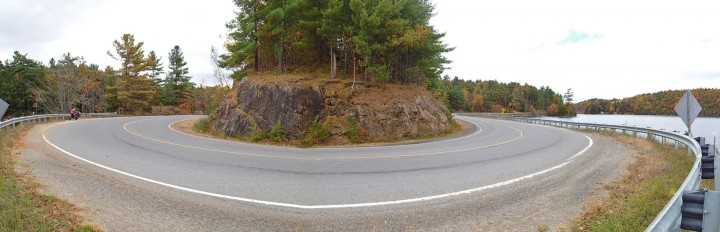 This is the big curve just out of Westport.