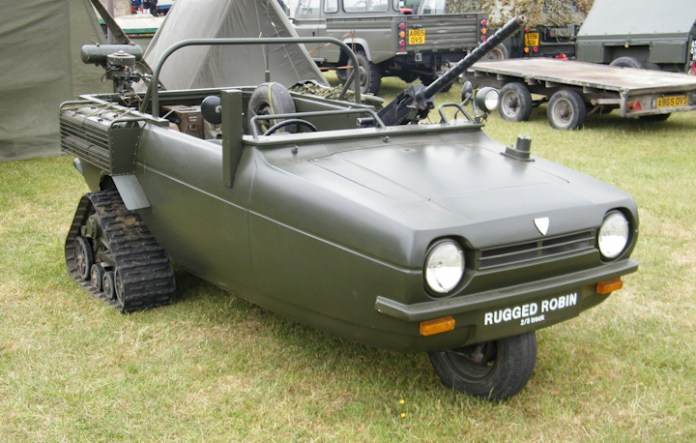 Coming to a battle space near you, the three wheeled/tracked fighting vehicle
