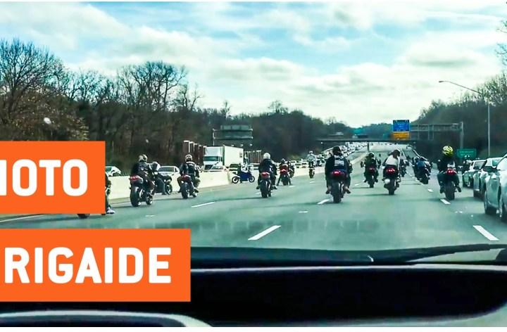 "Video: ""Stunt show"" blocks highway"