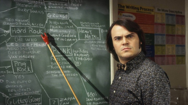 "Jack Black shows us how to chart and navigate a complex market environment without an MBA. Image : from Paramount Pictures' ""School of Rock"""