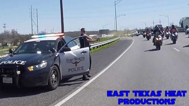 Video: Texas cop pepper sprays passing riders