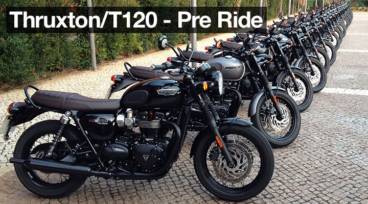 Triumph T120 and Thruxton Pre Ride