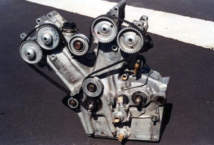 That's a homemade, 180 hp racing motorcycle engine right there. What did you do with your evenings last winter?