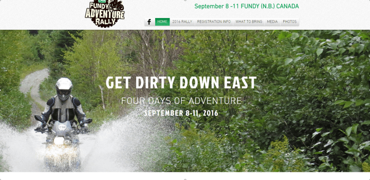 Fundy Adventure Rally 2016 details announced