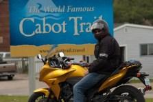 Rob at Cape Breton's motorcycle Mecca.