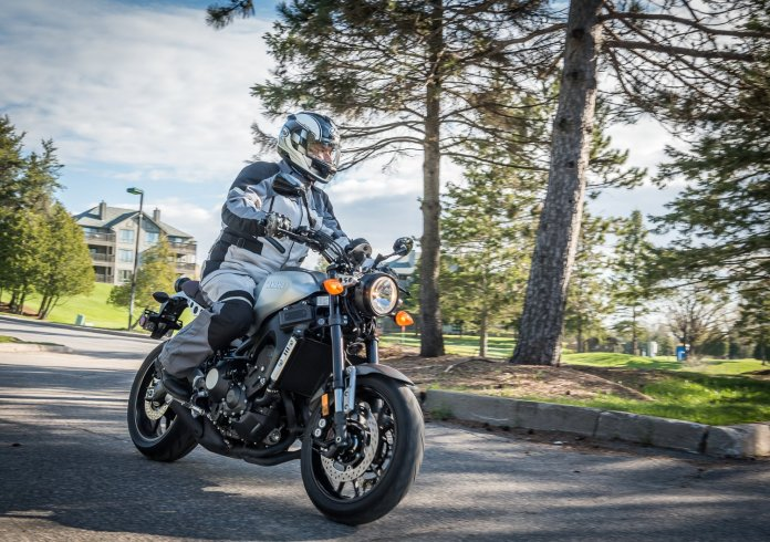 Although it shares much with the FZ-09, you'll notice differences with the XSR900 as soon as you get on board.