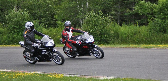 Rob and Alex Crookes on-track at Shubenacadie, before Rob's win.