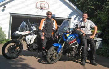 Rob and Jim, just before their ride to Labrador. The trip ended with a broken collarbone and banged-up bike, but plenty of fun until that point ...