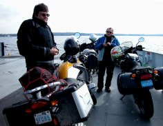A cold crossing on the Lake Champlain ferry.