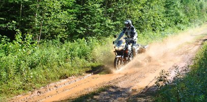 Although his second-generation V-Strom wasn't the world's most svelte ADV bike, Rob had a lot of fun with it anyway.