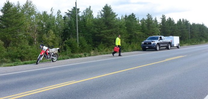 As we said elsewhere -- out of gas at the D2D. Again. Thankfully, someone was always around with some fuel to spare.