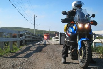 The start of Rob's ill-fated Labrador adventure, which ended in a crashed test bike (not by Editor 'Arris's 'hand). Rob always intended to go back.