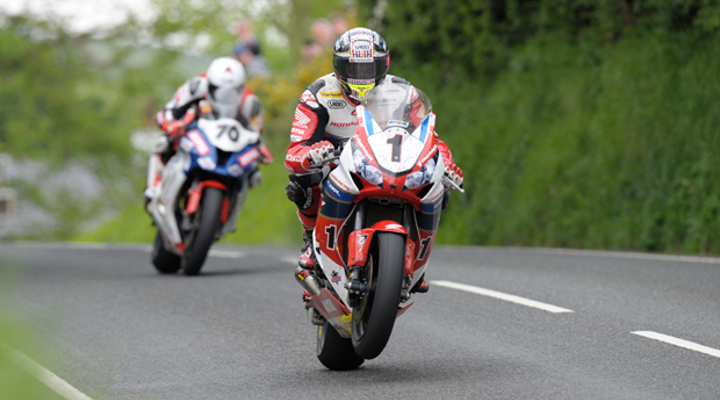 Ian Hutchinson, then Michael Dunlop, set IOMTT lap record
