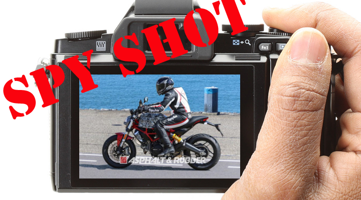Spied! New air-cooled Ducati Monster