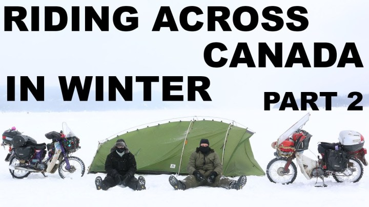 Video: Ed March posts update on wintertime crossing of Canada!