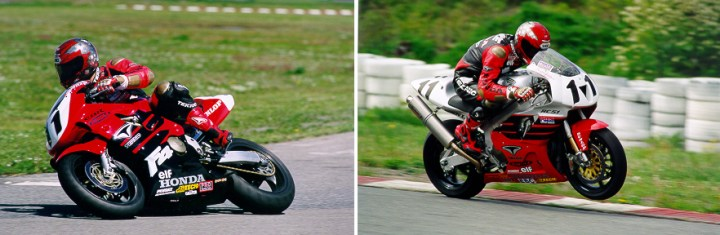 Szoke, aboard the Honda CBR600 and RC51 he piloted in 2000. He won the Superbike title aboard the RC51, and rode the CBR600 to third place, earning a podium finish in every Pro Sport Bike race.
