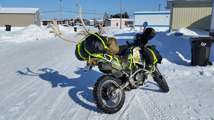 Oliver Solero's handlebar muffs keep him warm in temperatures far lower than what you can expect on your November commute. Unless your November commute is in Prudhoe Bay.