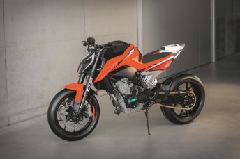 The KTM 790 Duke is one of several new models with parallel twins that are about to hit the market.