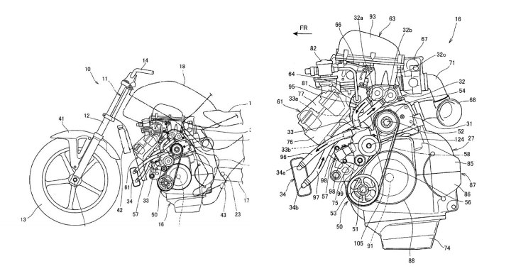 Rumour: Supercharged Honda motorcycle patents spied