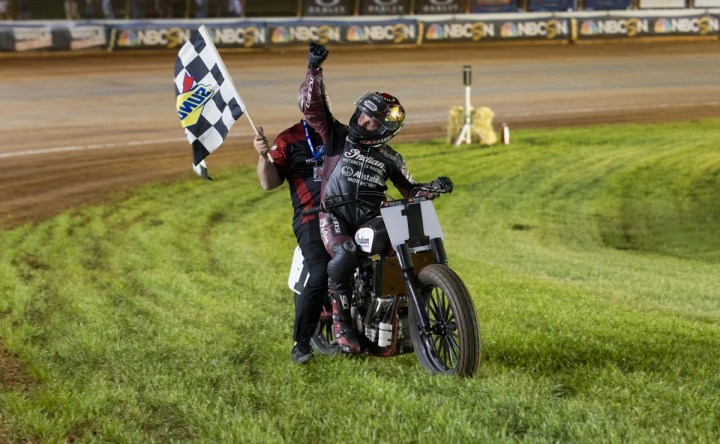 Indian continues winning streak in AMA flat track