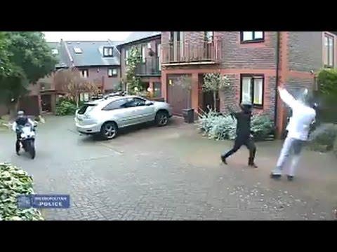 Homeowner vs. bike thieves vs. nunchuks