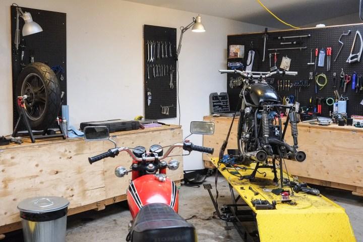 Moto Revere: DIY space, bike storage, training and fun