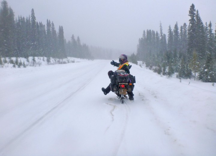 Snow and studs: The highs and lows of winter riding