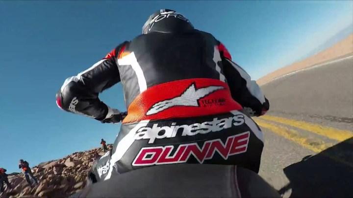 Onboard video: Carlin Dunne wins Pikes Peak