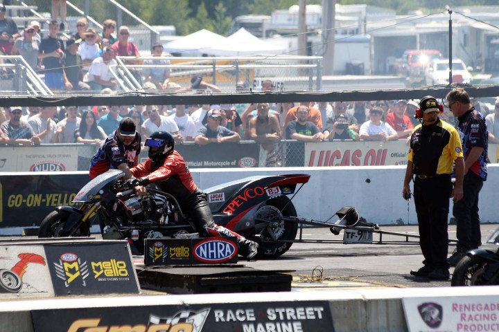Nitro madness: NHRA motorcycle drag racing