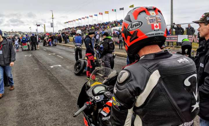 Tough times for Darren James at North West 200