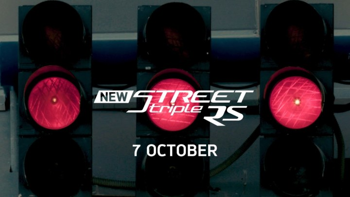 Triumph drops teaser for new Street Triple RS