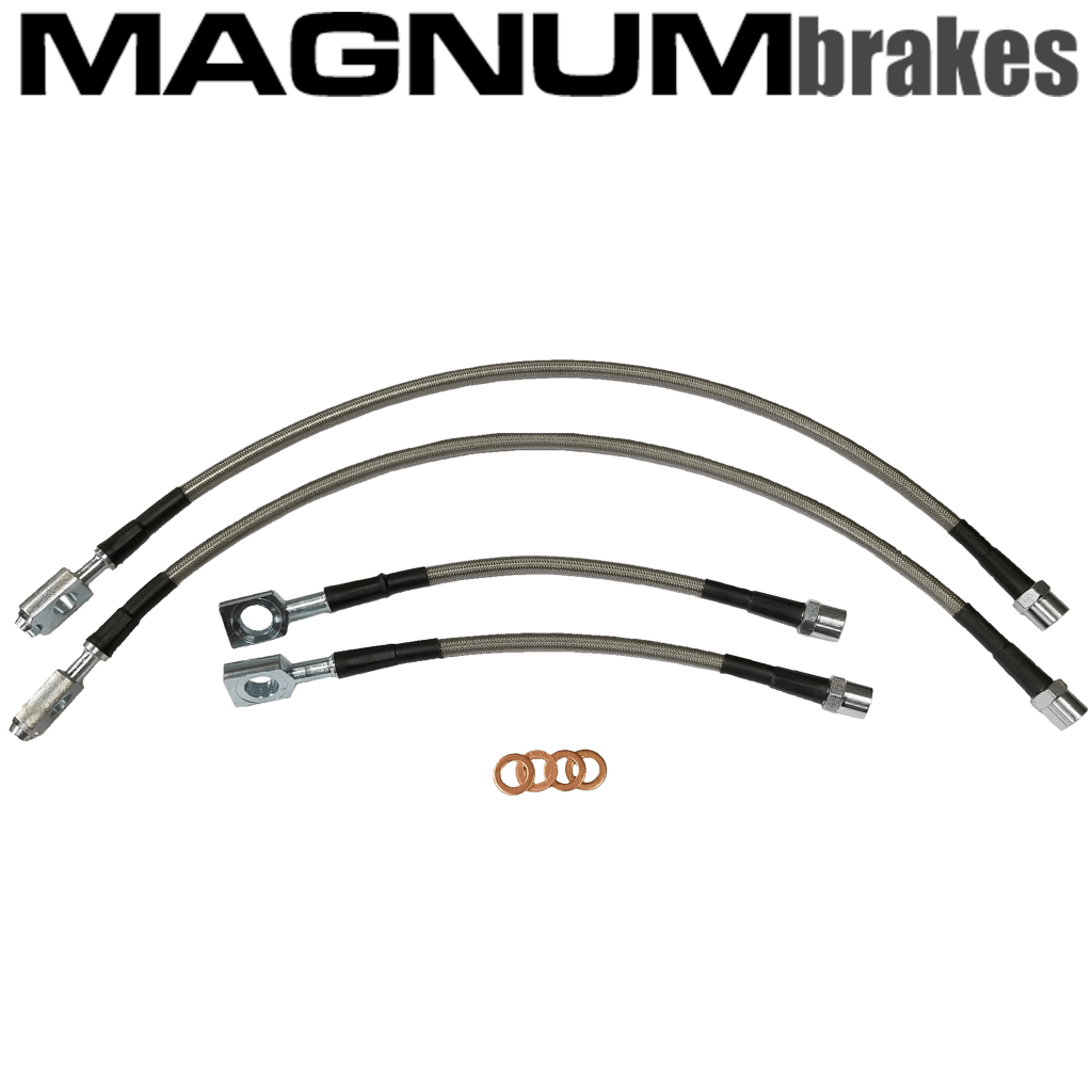 MagnumBrakes Stainless Steel Brake Lines for 1991 Acura