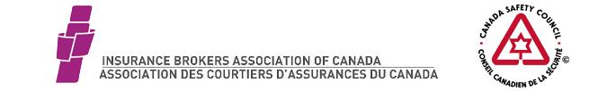 Logos du Conseil canadien de la sécurité et de l'Association des courtiers d'assurances du Canada