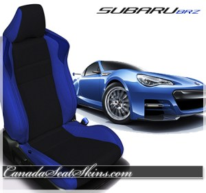 Subaru BRZ Blue Custom Leather Seats